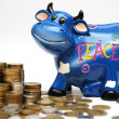 Royalty-Free Stock Photo: Bull & money