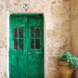 Royalty-Free Stock Photo: Green door