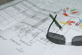 Construction drawing — Stockfoto