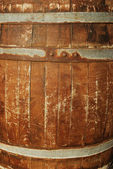 Old wooden keg — Stock Photo