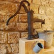 Stock Photo: Old water pump