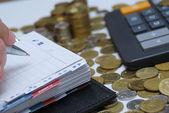 日记和金钱 — 图库照片