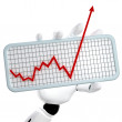 Royalty-Free Stock Photo: The graph going up