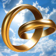 Stock Photo: Two gold rings