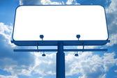 Billboard on a sky background — Stock Photo