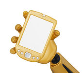 Look to the gold pda — Stock Photo