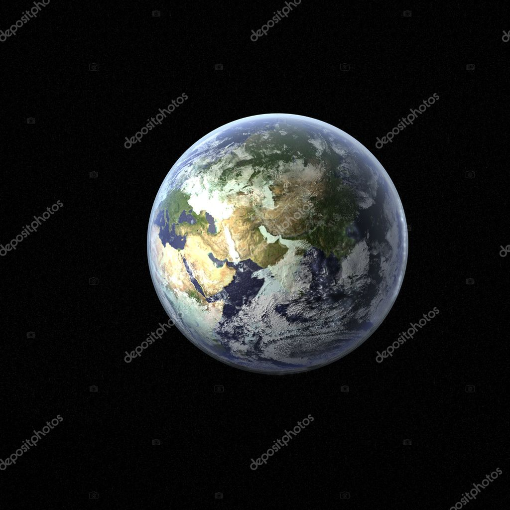 A high detail 3d render of the earth & atmosphere — Stok fotoğraf #1021585