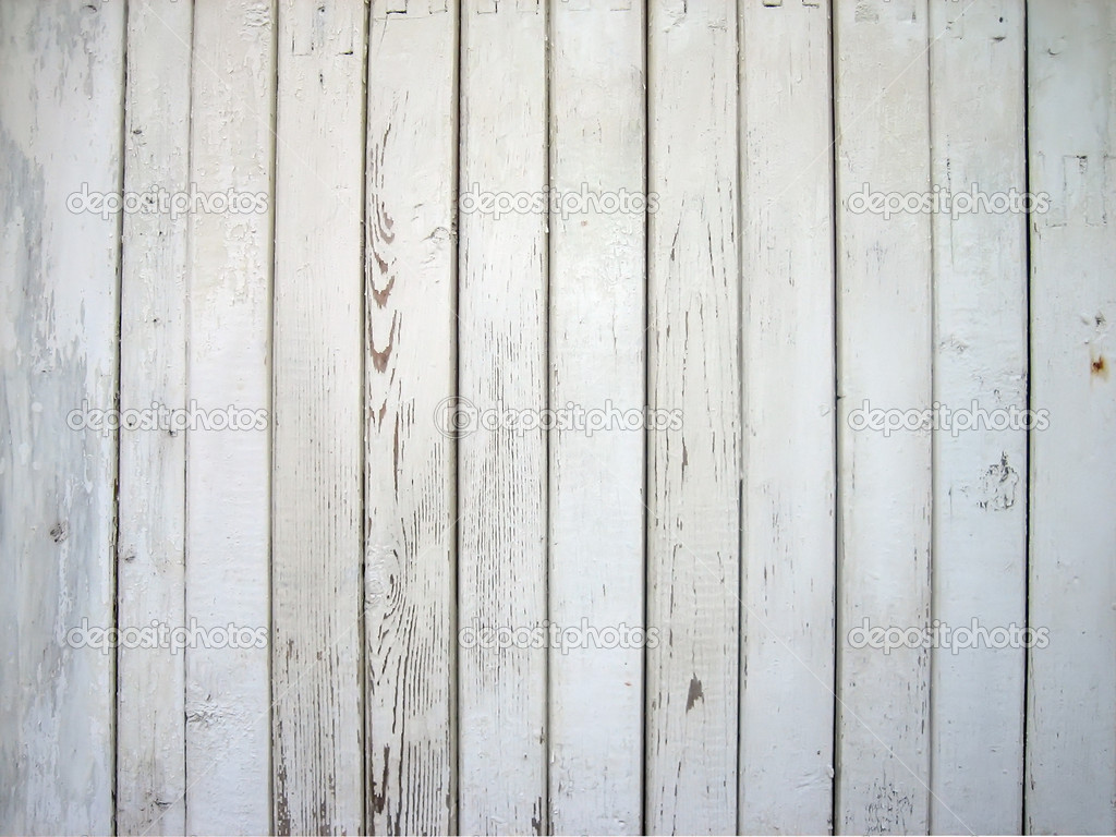 White painted wooden wall  Foto de Stock   #1027903