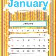 January. 2010 calendar — Stock Photo