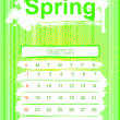 Spring season calendar — Stock Photo #1043012