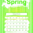 Stock Photo: Spring season calendar