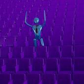 De persoon in het auditorium — Stockfoto