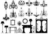 Collection of furniture — Stock Photo
