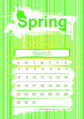 Spring season calendar — Stock Photo