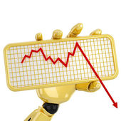 Graph going down — Stock Photo