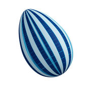 Blue linear abstract Easter egg — Stock Photo