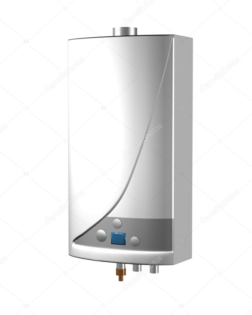 Gas boiler isolated on a white background. Including clipping path. — Stock Photo #1047962