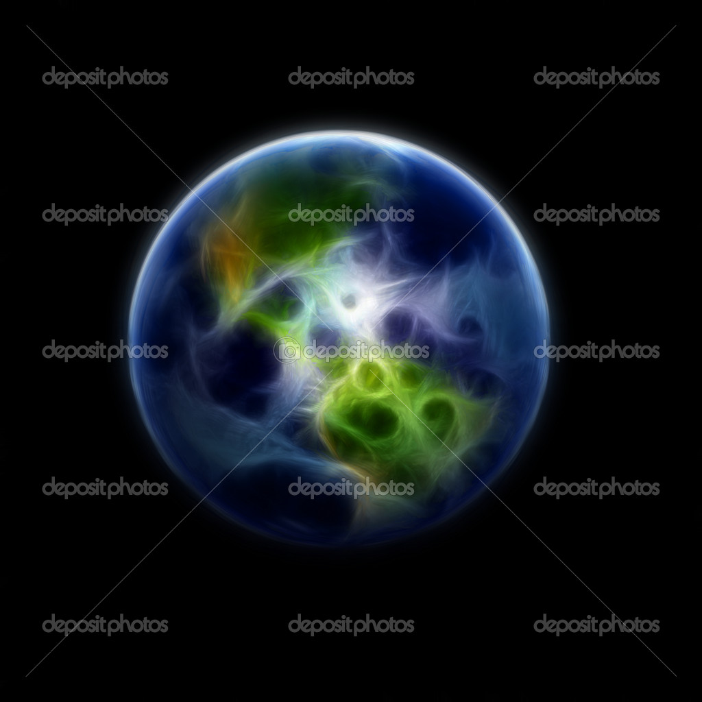A high detail 3d render of the earth & atmosphere — Stock Photo #1048083