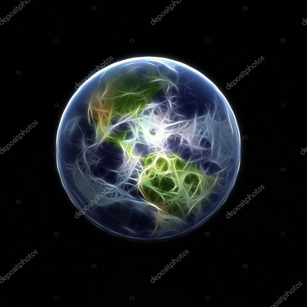 A high detail 3d render of the earth & atmosphere  Stock Photo #1048085