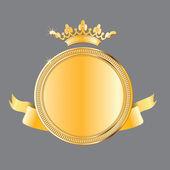 Premio de oro. medalla de vector — Vector de stock