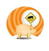 猪流感图标 — 图库矢量图片