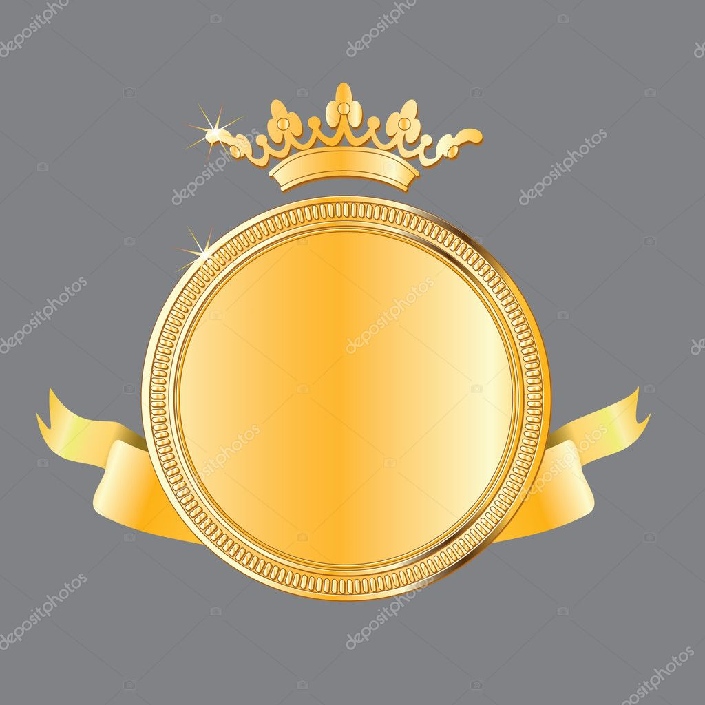 Illustration of a gold award medal wgicg can be scaled to any size  — Stock Vector #1011651