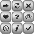 Set of buttons for internet browser — 图库照片