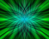 Abstract green flower — Stock Photo