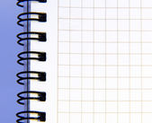 Blank notebook sheet — Stock Photo