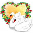 Royalty-Free Stock Vector Image: Romantic swans