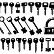 Stock Vector: Keys