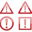 Stock Vector: Attention sign