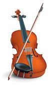 The realistic vector image of a musical instrument under the name a violin — Stock vektor