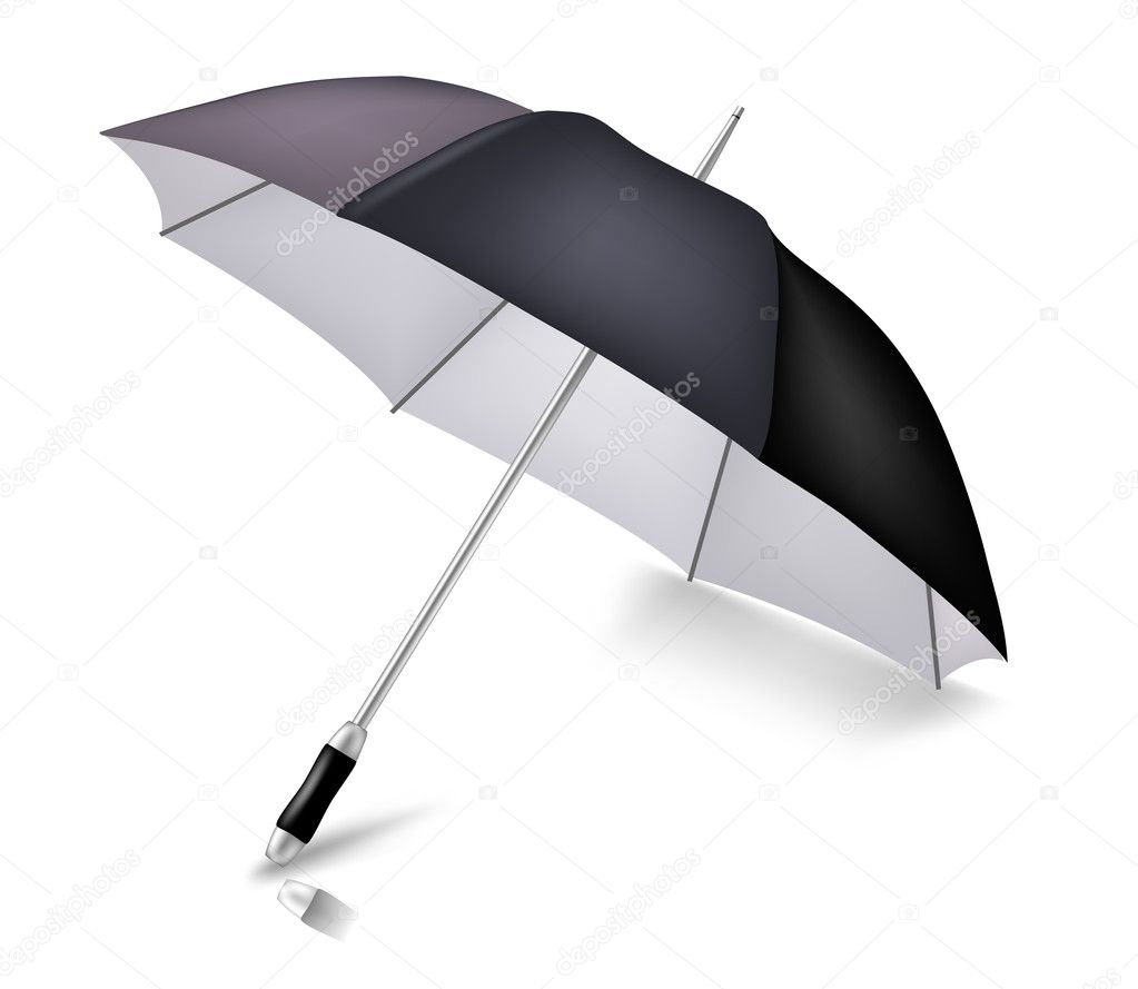 Vector elegant umbrella. To see more detailed vectors go to my portfolio... — Stock Vector #1022021
