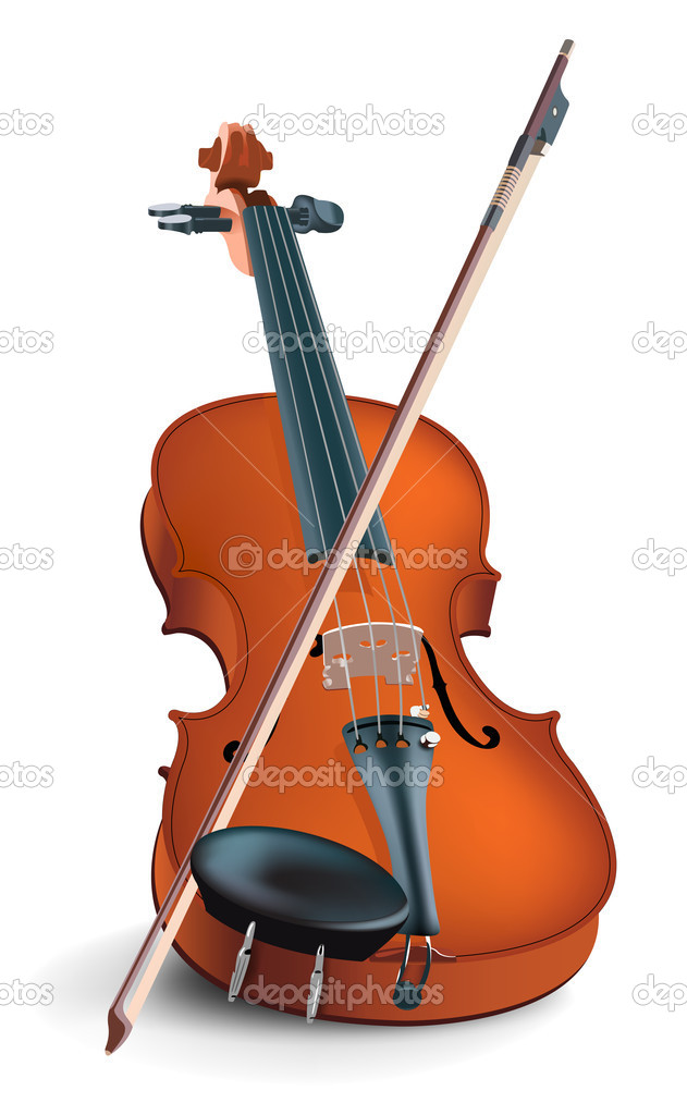 The realistic vector image of a musical instrument under the name a violin — Stock Vector #1022675