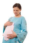 молодая беременная женщина — Стоковое фото