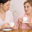 Grandmother and granddaughter together — Stock Photo