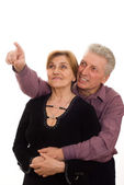 Elderly man and woman looking — Stock Photo