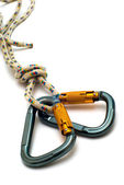 Two carabiners — Stock Photo