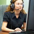 Smiling customer support — Stock Photo #1034854