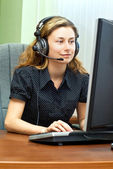 Smiling customer support — Stock Photo