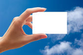 Empty business card — Stock Photo