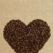 Royalty-Free Stock Photo: Coffee heart from grains