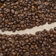 Coffee grains background — Stock Photo #1236446