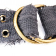 Stock Photo: Buckle of textile belt