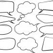 Speech bubbles — Stock Photo