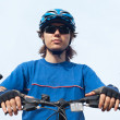 Stock Photo: Young bicyclist