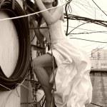 bir gelinlik kadın — Stok fotoğraf