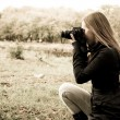 Photographer on the nature — Stock Photo #1039580