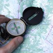 Compass on map — Stock Photo #1042598